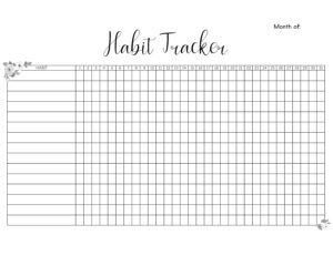 graphic relating to Habit Tracker Printable Free known as Efficiency Printables - Small Ramblings