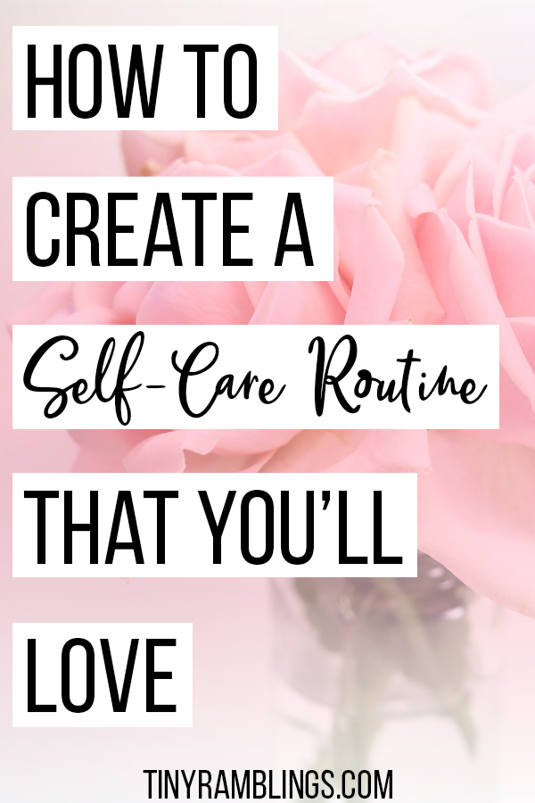 create-self-care-routine